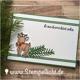 Weihnachtskarten Mit Reh Und Schneemann Aus Seasonal Chums