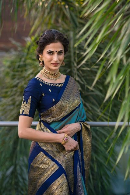 41 Latest pattu saree blouse designs to try in 2019    Blouse patterns for silk sarees