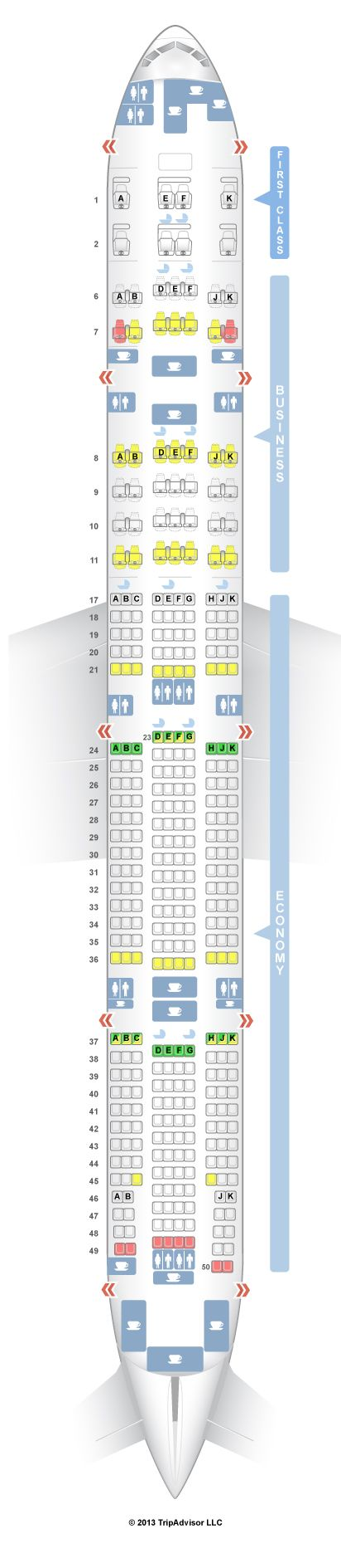 SeatGuru Seat Map Emirates Boeing ER W Three Class V - Japan airlines seat map 773