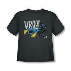 Batman /& Robin in Batmobile VROOM Licensed Adult T-Shirt All Sizes