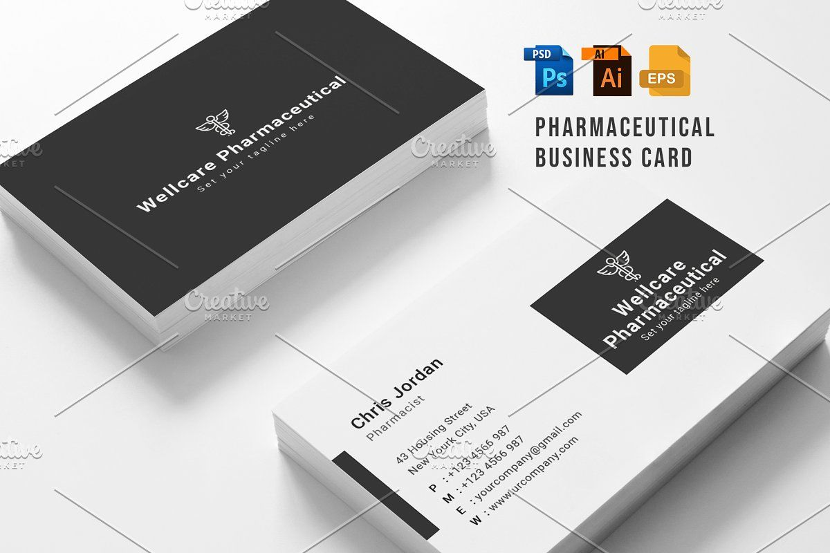 Pharmacy Business Card Cleaning Business Cards Business Card Set Business Cards Creative Templates