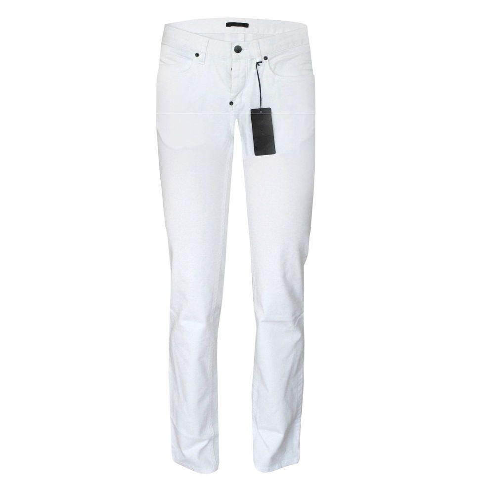 928e687762 PRADA $430 skinny white 5-pocket slim pants low-rise stretch denim ...