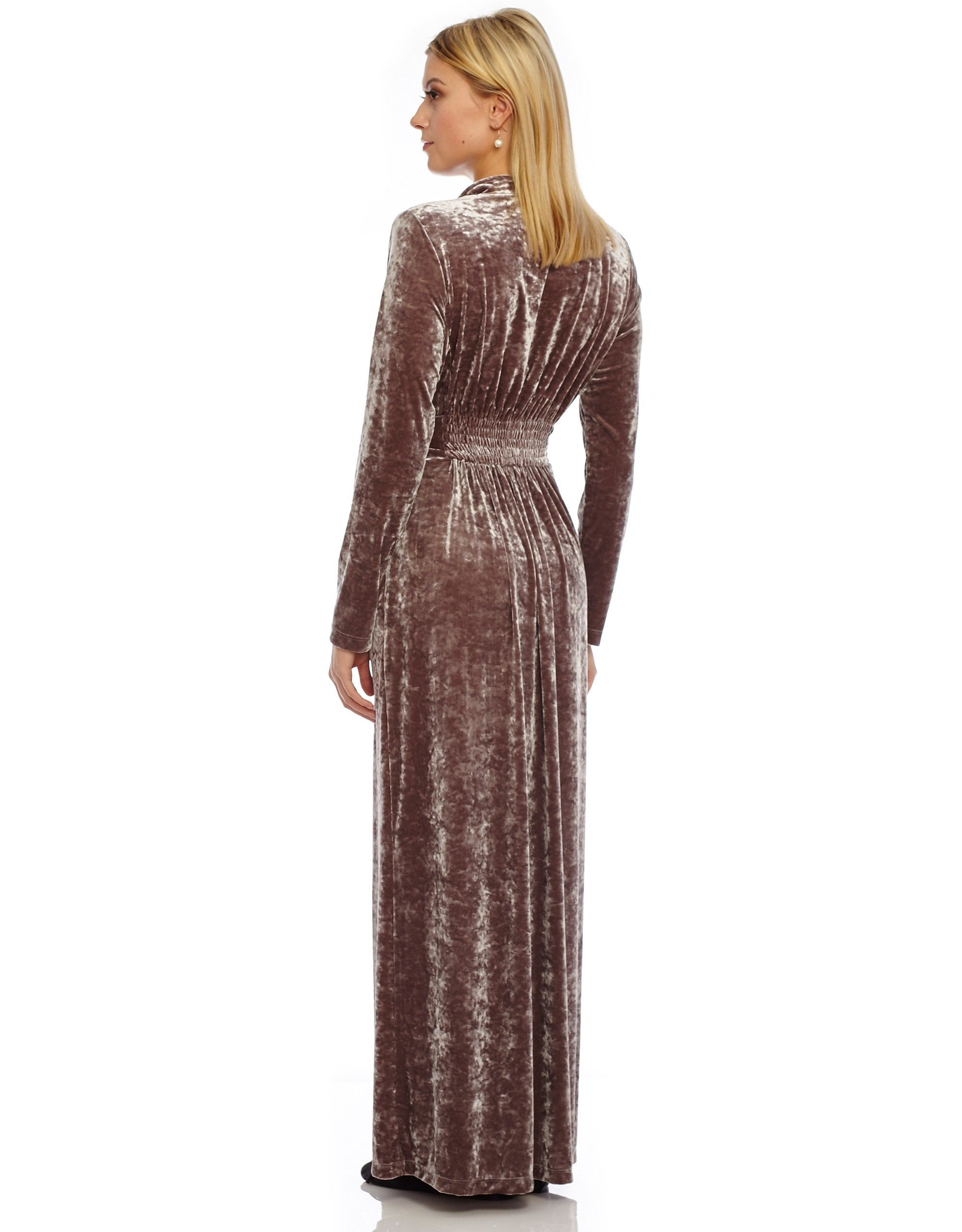 13801ccec1b Crushed Velvet Wrap Robe with Shirred Back - Morning Robes - Robes and  Maxis at The Lingerie Shop New York