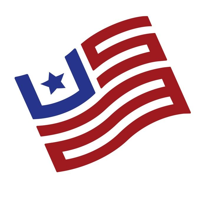 American Flag Made Up Of The Letters U S A Designspiration American Logo Flag Logos