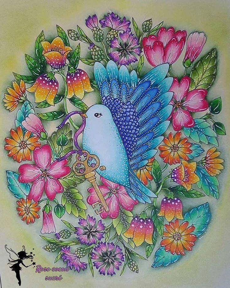 Blomstermandala De Maria Trolle Blomstermandalamalarbok