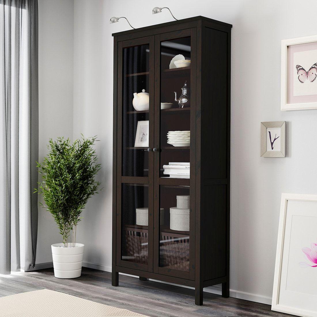 Hemnes Glass Door Cabinet Black Brown 35 3 8x77 1 2 Ikea Glass Cabinet Doors Hemnes Ikea Hemnes [ 1100 x 1100 Pixel ]