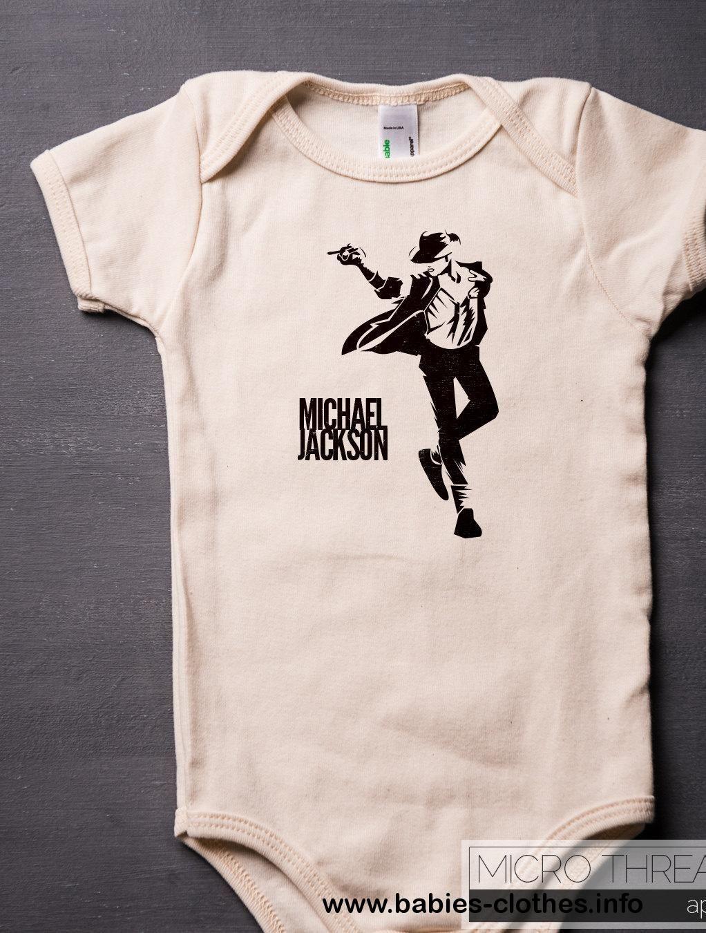 Michael Jackson American Apparel Baby Bodysuit Organic Cotton