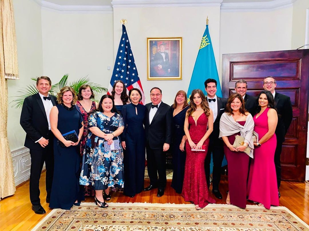Thank you to Ambassador and Mrs. Kazykhanov for hosting a