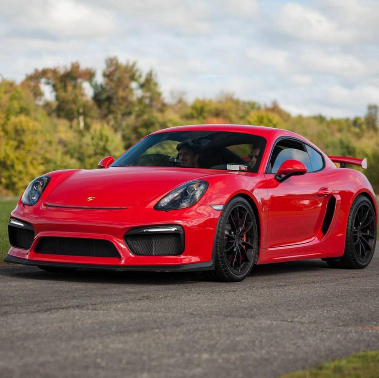 Porsche 911 Car: Porsche Cayman GT4 Painted In Guards Red Photo Taken By