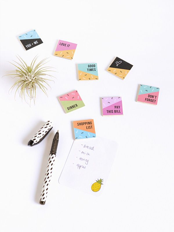 Make it | Printable reminder magnets for Curbly