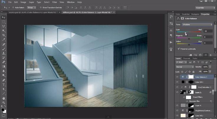 Interior design post production tutorial photoshop architectural tutorials also rh ar pinterest