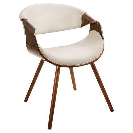 Curvo Mid Century Modern Chair In Walnut Wood Lumisource