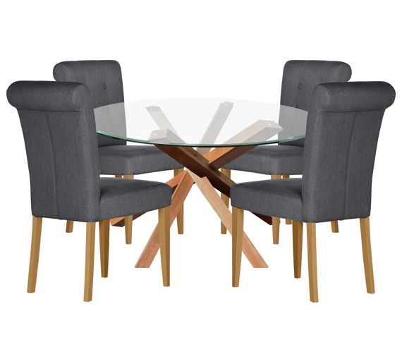 Buy Home Of Style Abbotsley Dining Set With 4 Chairs At Argoscouk
