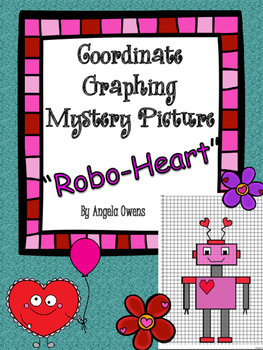 Valentine's Day Coordinate Mystery Grid 'Robo-Heart' | Teaching