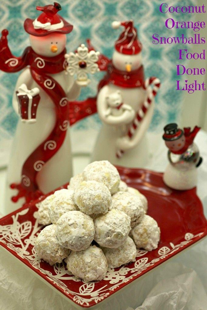 Coconut Orange Snowball Cookies