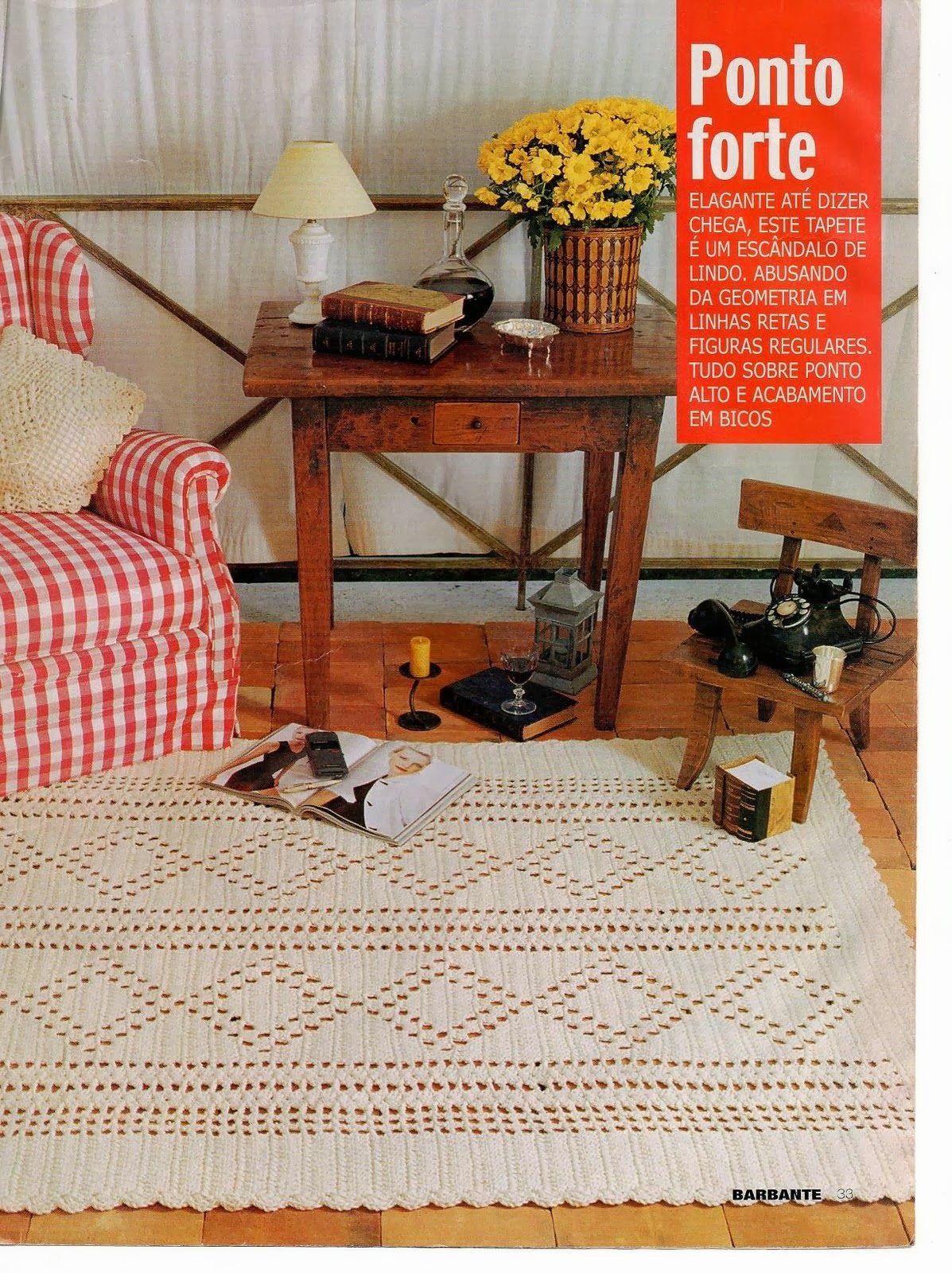Talita Monteiro Croche Tapete Para Sala Tapete Sala E Quarto  -> Tapetes Geometricos Sala