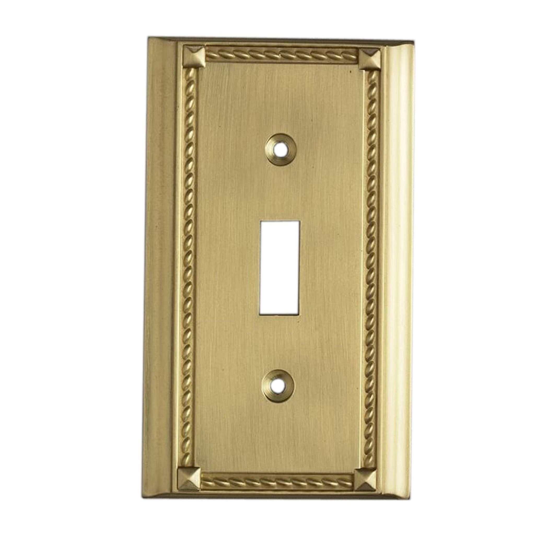 Clickplates Single Switch Plate In Brass | Products