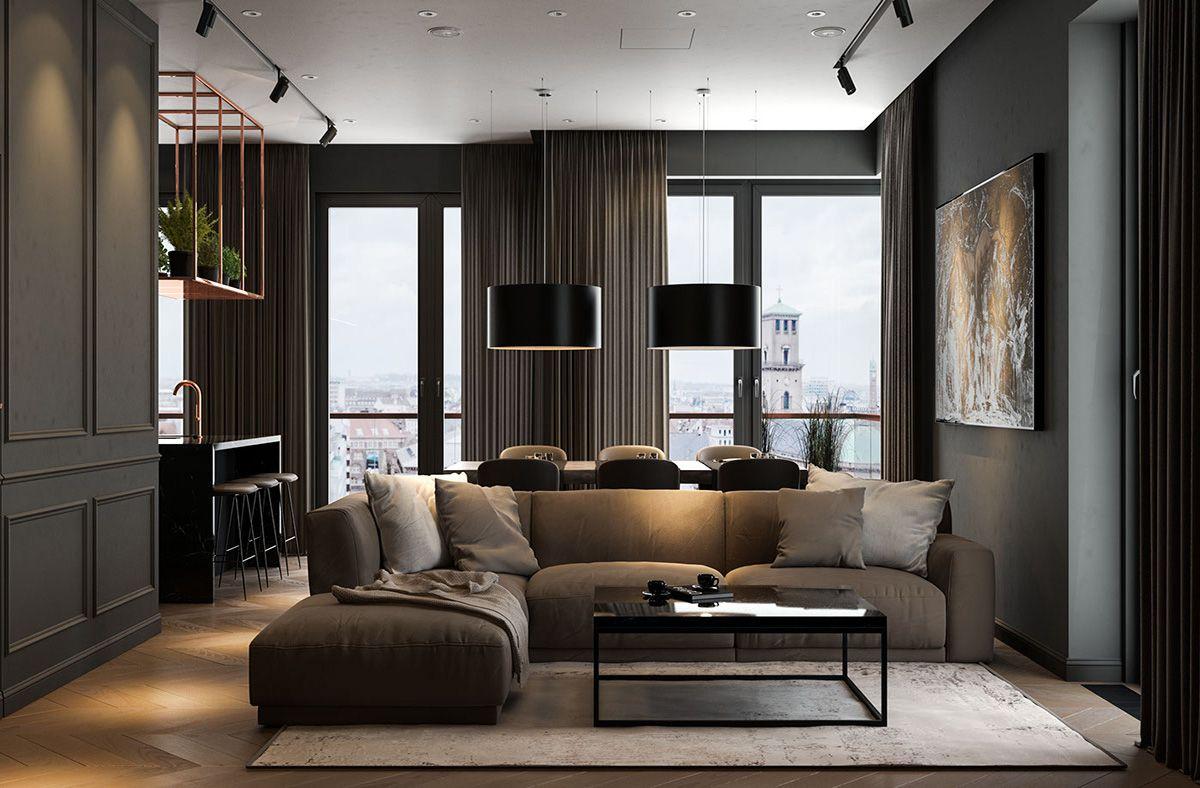 Modern Dark Interior Design Dark Interior Design Dark Living