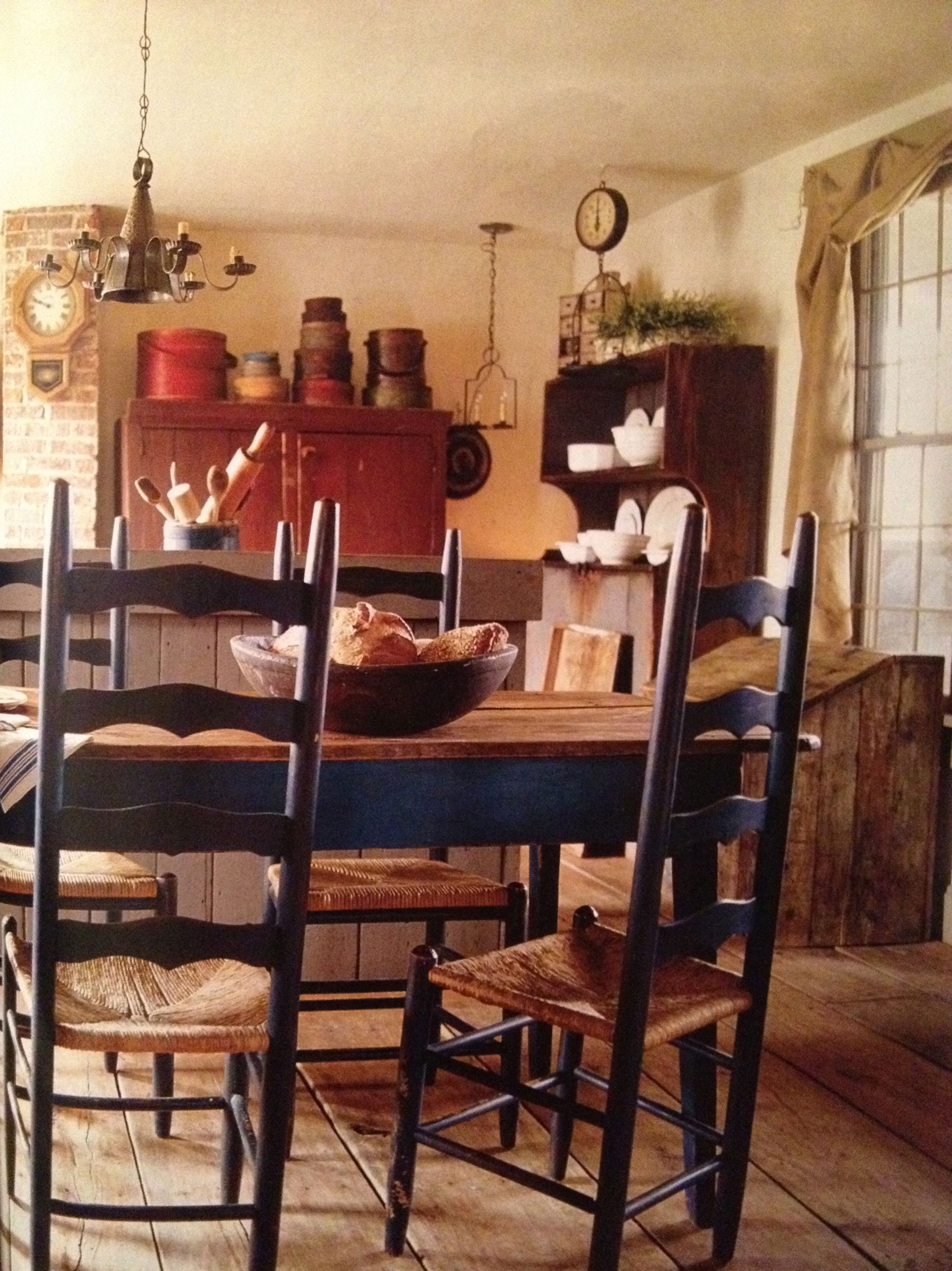 Kitchen Decor Ladder Looks Like My Table And Ladder Back Chairs Primitive