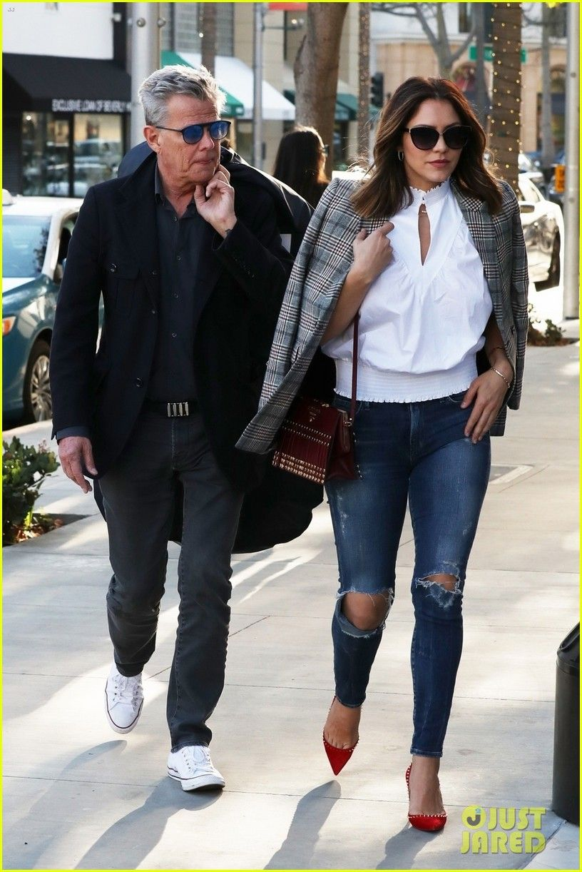 Katharine Mcphee Boyfriend David Foster Are A Fashionable Couple In Beverly Hills Fashion Celebrity Street Style Street Style Shop