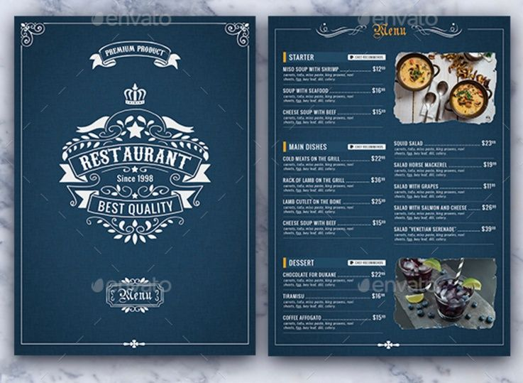 15+ Lunch Menu Template PSD, InDesign and EPS Format | cheristmas ...