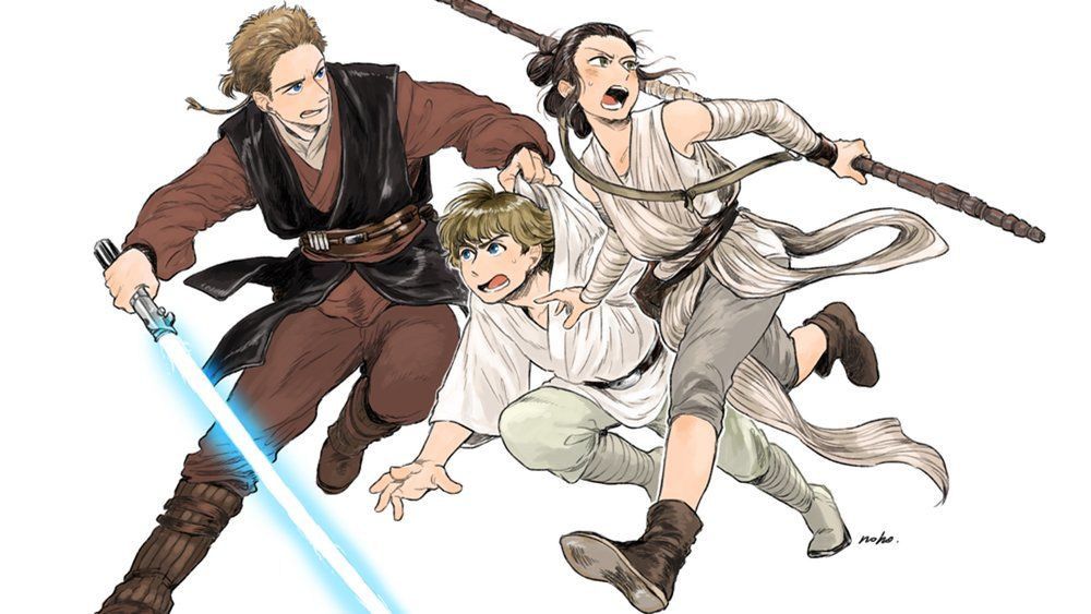 STAR WARS Meets Anime in Awesomely Charming Fan Art Series