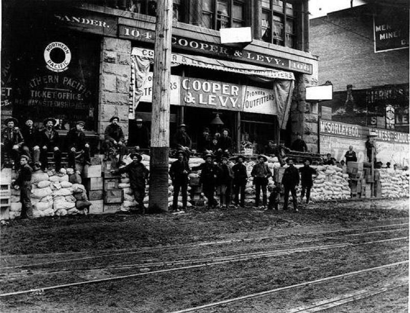University of Washington Cooper and Levy was one of the many Klondike suppliers on 1st Avenue. Libraries. Special Collections Division Asahel Curtis Photo Co. Collection. PH Coll 482 CUR1008