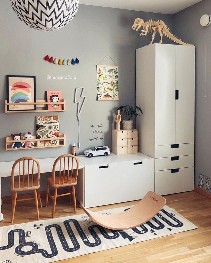"Interior & Scandinavian Decor on Instagram: ""How lovely is this child's room by @fransandflora �� OYOY The Adventure rug is available in our sale � . #kidsroom #kidsroomdecor…"""