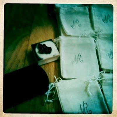 Handcrafted wedding designer - Lace & Likes     Monogram Rubber Stamps