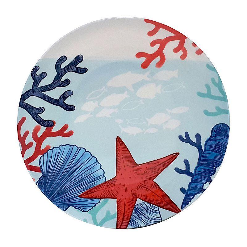 summer beach coastal melamine plates | Martha Stewart Collection Coastal Summer Melamine Dinnerware ...