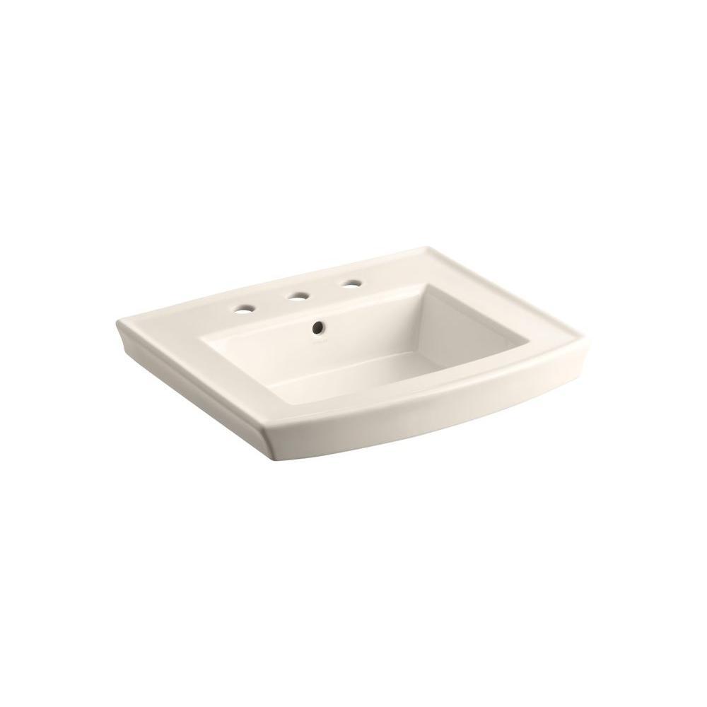 Kohler Archer 7 875 In Vitreous China Pedestal Sink Basin In