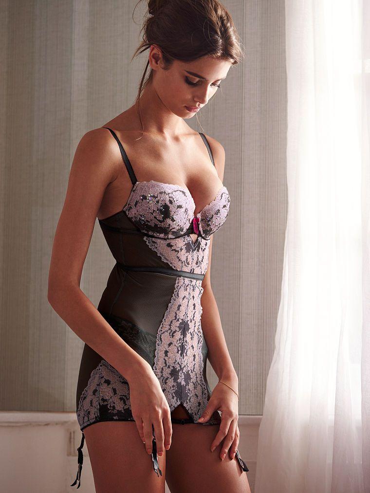 shimmery lace  sheer mesh  garter straps u2014we see no reason