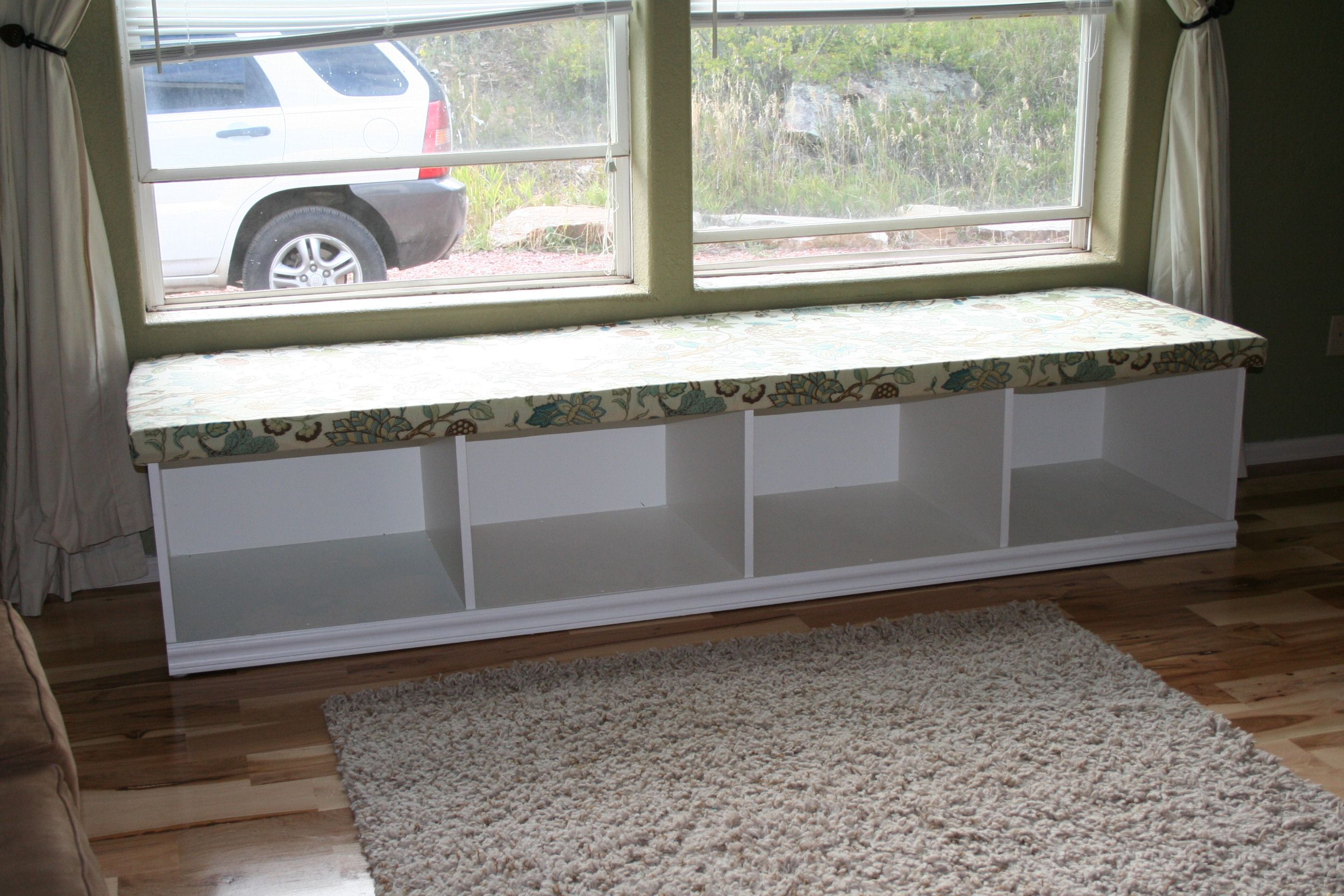 Build your own cubby bench window seat with storage do