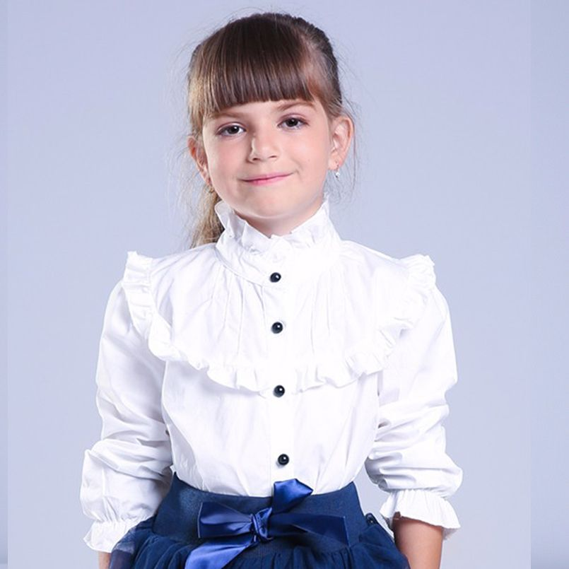 Toddler Baby Kid Girl Ruffled Party Blouse Top Long Sleeve Lace Bowknot T-shirt