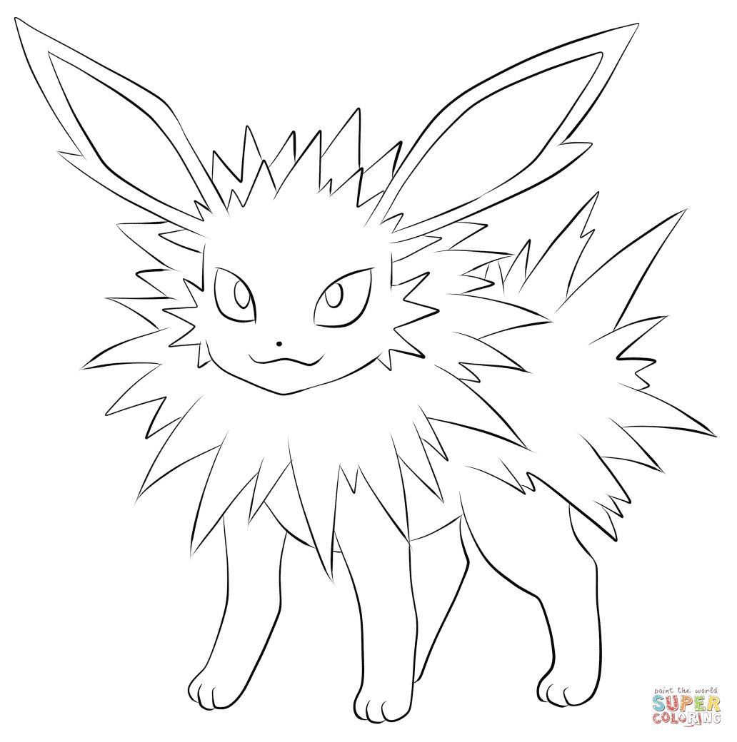 Pokemon Coloring Pages Jolteon From The Thousands Of Images On The Internet Concerning Poke Pokemon Coloring Pages Cartoon Coloring Pages Free Coloring Pages