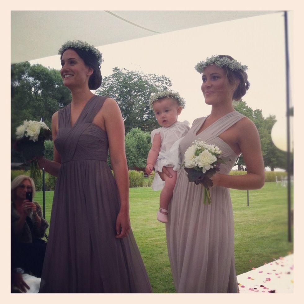 Bridesmaids and Floral head dresses | Wedding Head Dress | Pinterest ...
