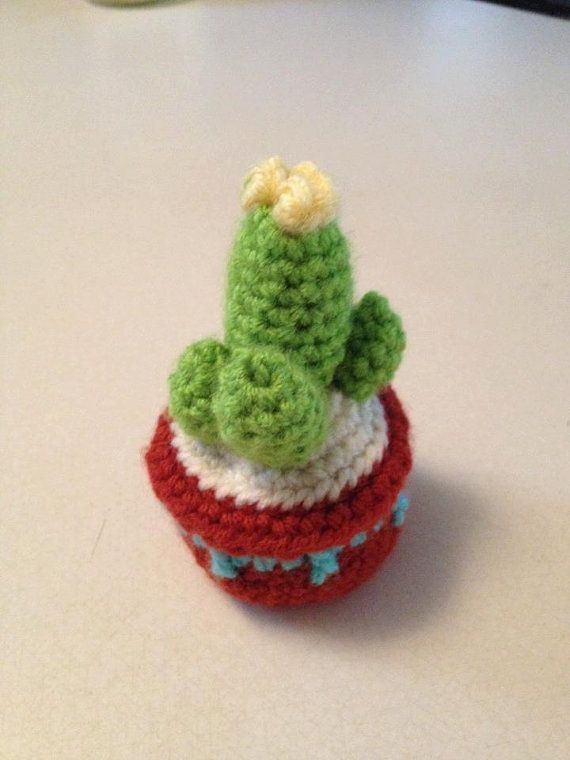 Crochet Cactus Pattern Pincushion por KristinsArt4u en Etsy ...