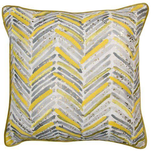 Nourison Mina Victory Mina Victory Dr201 Gold Decorative Pillow 20 X 20