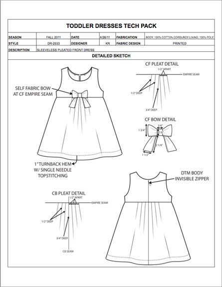 Instead of developing garment spec sheets from scratch and manually ...