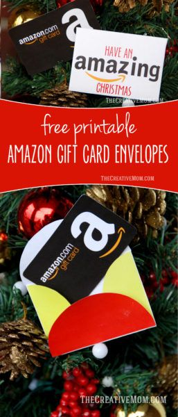 Photo of Amazon Gift Card Envelopes (free printable download)