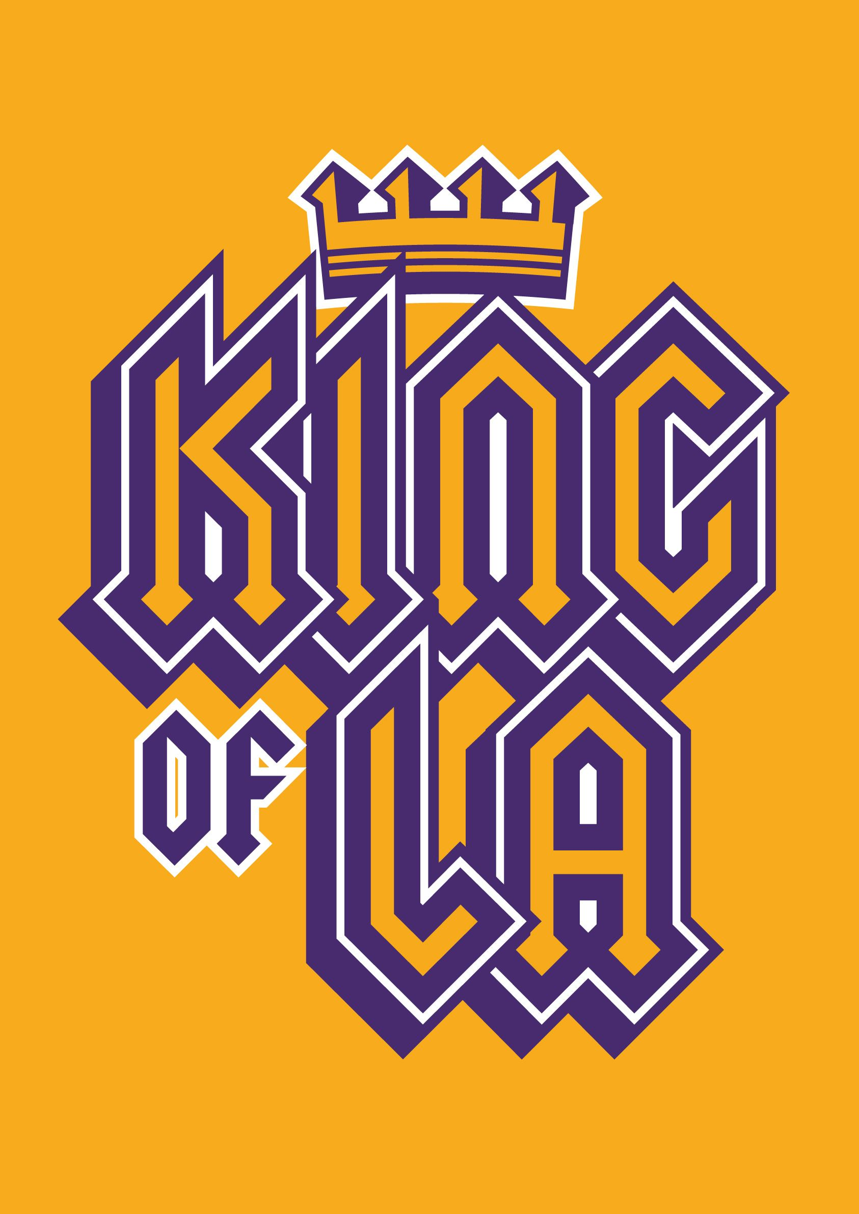 King of LA minimal downloadable wall art print/poster by Robot Eats ...