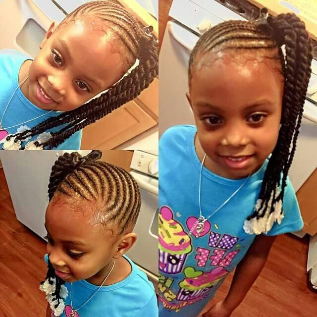 Side Ponytail Braids Into Twists Little Girl Hairstyles Little