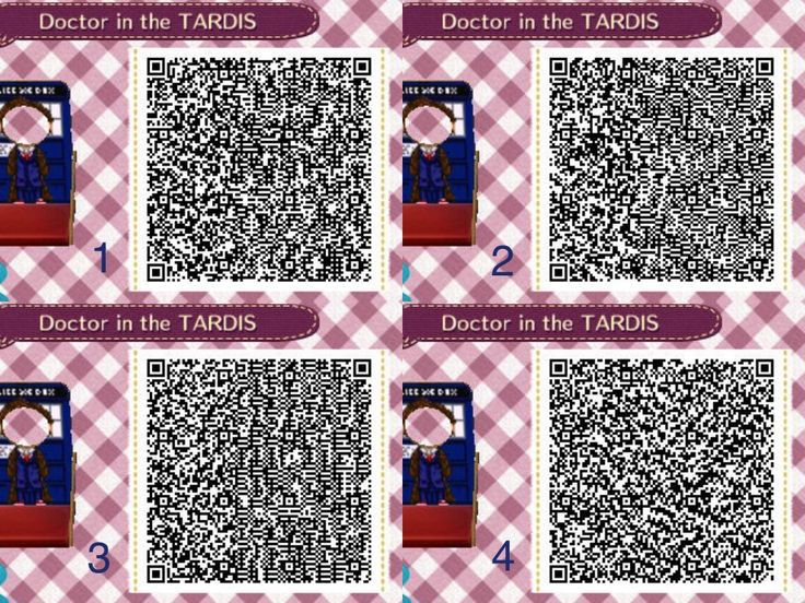Doctor And Tardis Cutout Standee Acnl Qr Code Animal Crossing Qr