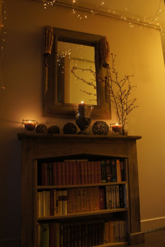 Chimney, lights and flowers
