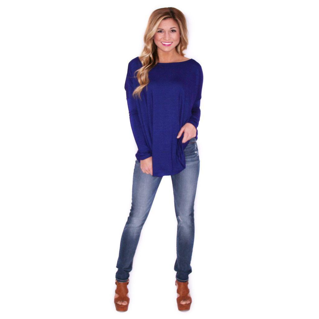 Piko Thin Sweater in Royal Blue | Royal blue, Royals and Models