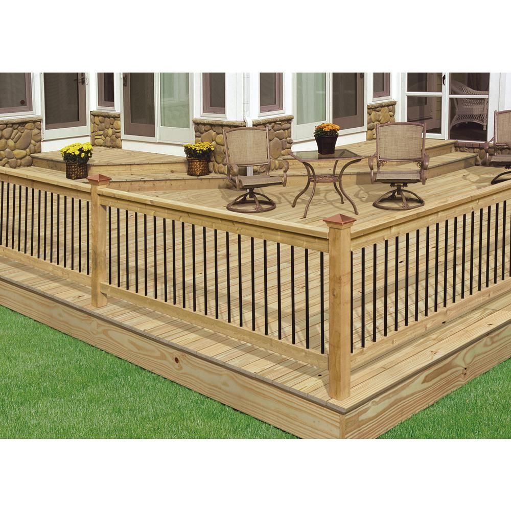 Best Deckorail Pressure Treated 6 Ft Aluminum Southern Yellow 640 x 480
