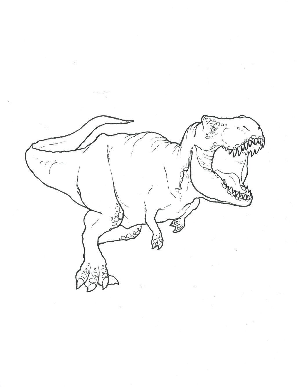 Free coloring pages jurassic world - T Rex Coloring Pages Free