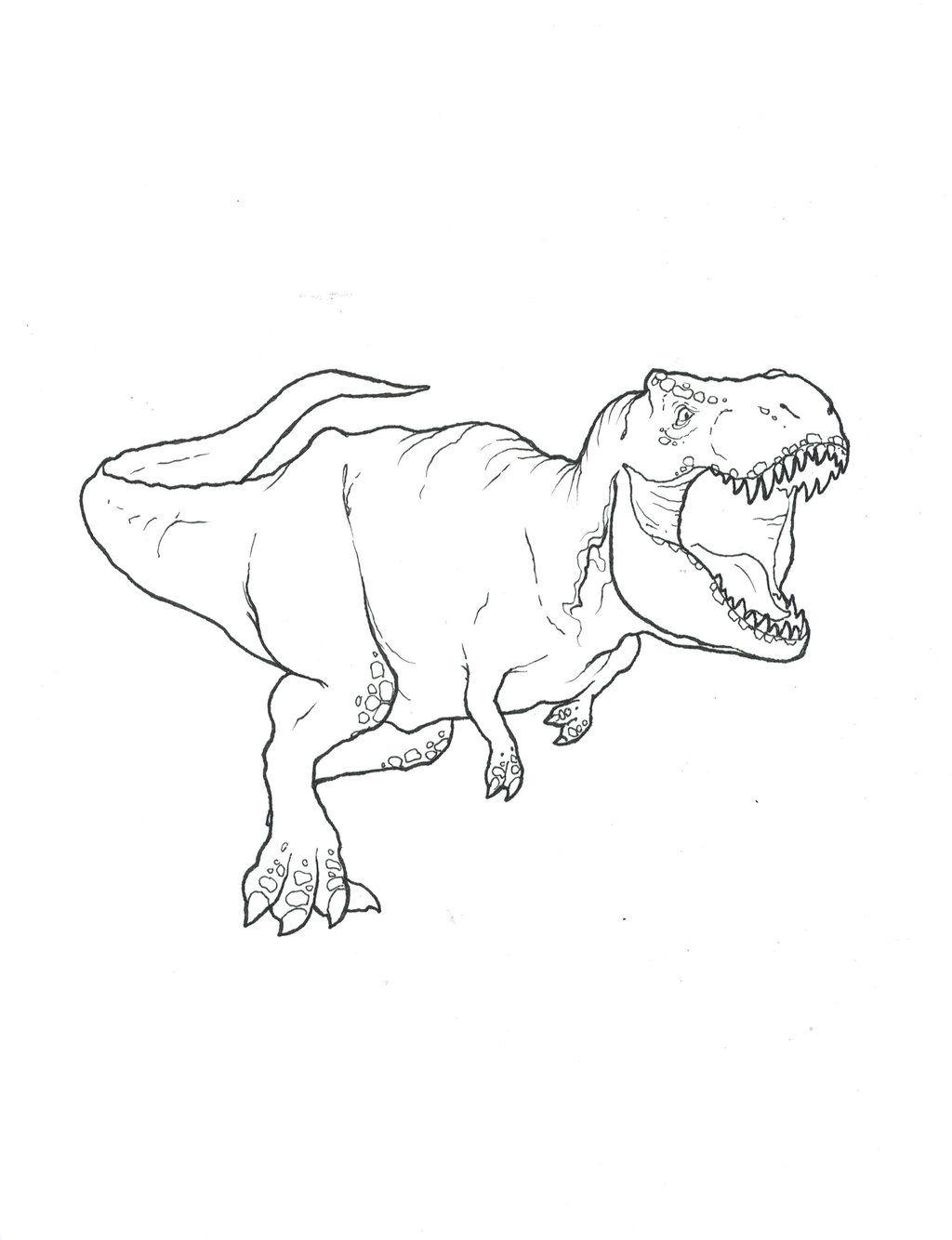 Tyrannosaurus Rex Coloring Page