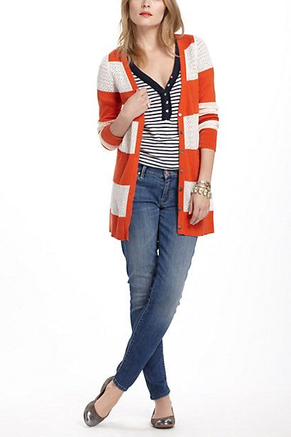 Rugby Pointelle Cardigan - Anthropologie.com