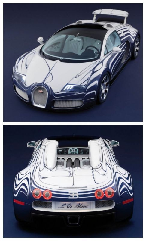 The Bugatti Veyron L'Or Blanc is the fastest (and only) porcelain car ever built. Click to be blown away! #Bugatti #spon #supercars